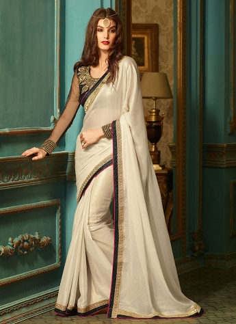 Aristocratic Shimmer Georgette Party Wear Saree