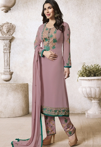 Sophie Choudry Move Georgette Trouser Style Suit - 5007