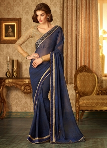 Pleasance Resham Work Party Wear Saree