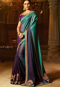 Purple Silk Party wear Saree - 2115