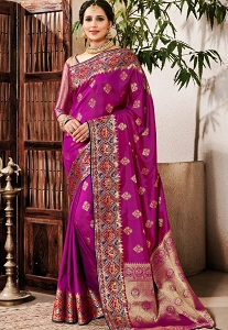 Purple Art Silk Traditional Saree - 2603