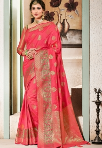 Slaty Pink Art Silk Traditional Saree - 2605
