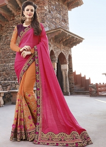 Multi Color Fancy Fabric Half N Half Saree  - 30020
