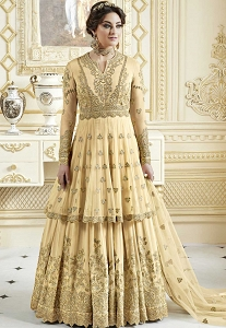 Cream Georgette Designer Anarkali Suit -7273