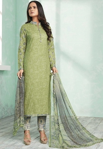 Light Green Pure Cotton Trouser Style Suit - 801B