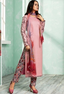 Pink Shade Pure Cotton Trouser Style Suit - 802A
