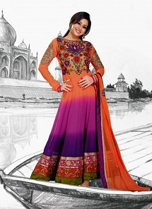 Multi Color Georgette Floor Length Anarkali Suit