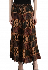 Printed Dori Patchwork Skirt / Long Skirt / Full Length Skirt / Boho Skirt / Cotton Skirt / Long Skirt For Women / Maxi Skirt-STG87-2